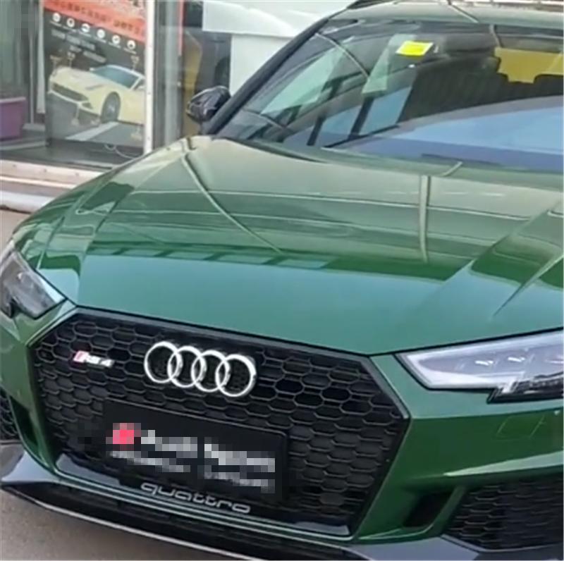 """""""橄榄绿""""RS4到店,4.1秒破百,外观低调仍被称""""买菜车"""""""