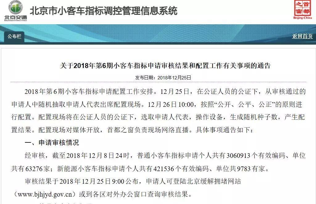 北京2019新能源指标数公布,算算你哪年中标