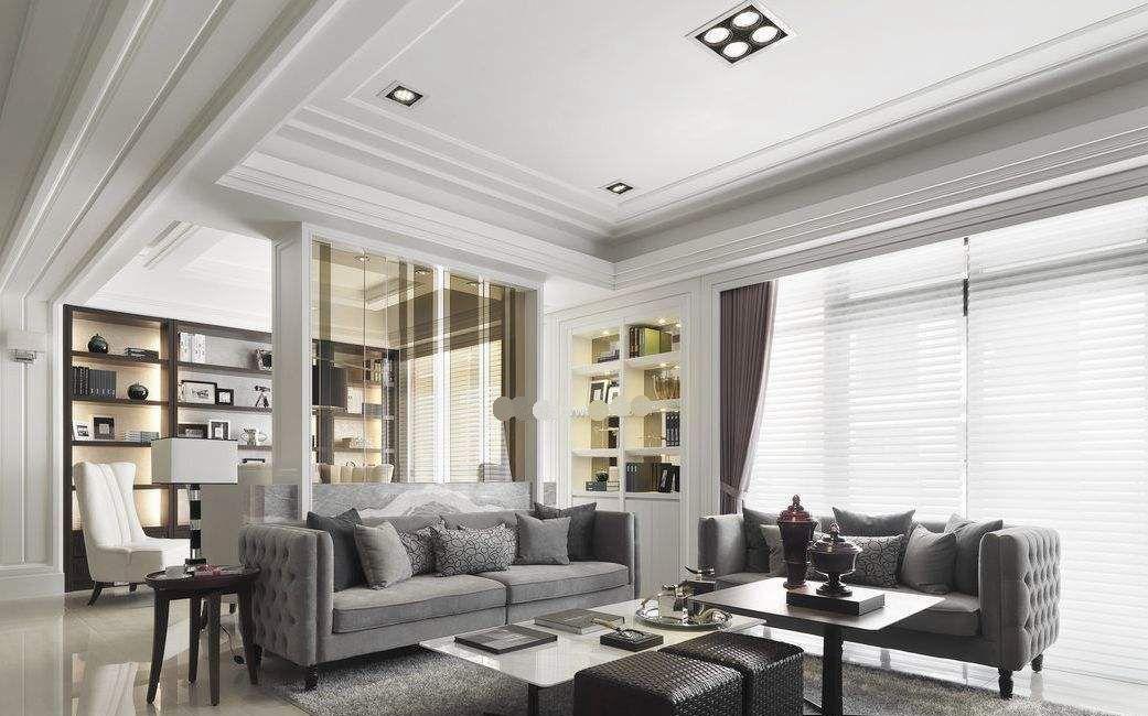 客厅别再装传统吊顶了,聪明人省钱用石膏线支撑,a客厅又代替!矿棉板流行反吊顶的间距图片