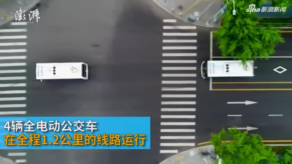 """""""无人驾驶""""公交车深圳首发试运行"""