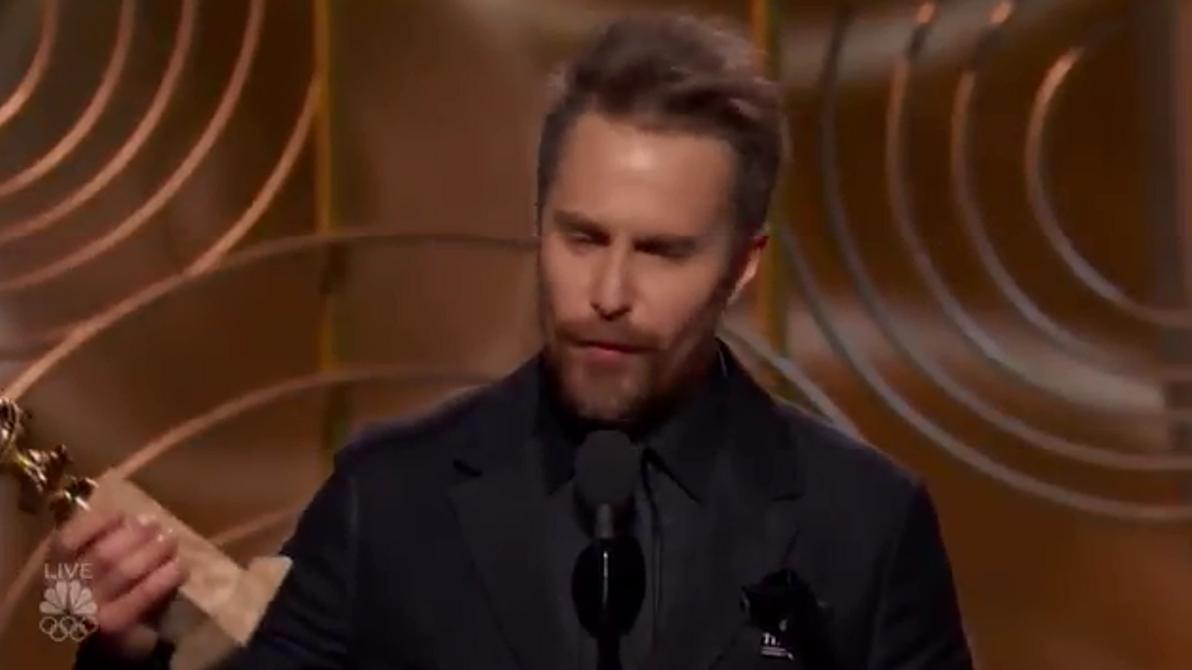 洛克威尔获金球奖最佳男配发表感言