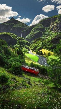 挪威的湖光山色,美如画