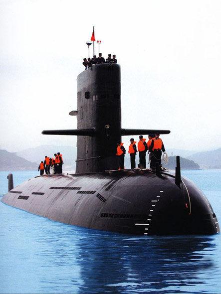 資料圖:解放軍新型潛艇歸航