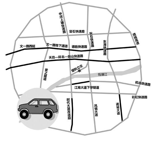 杭州今年将建成45公里快速路 打通交通梗阻痛点