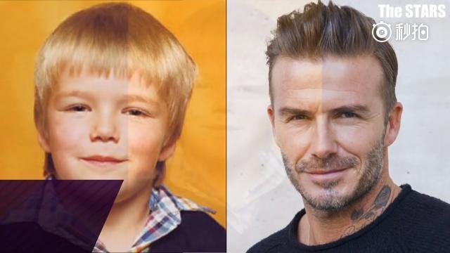 贝克汉姆5岁至今的容颜变化