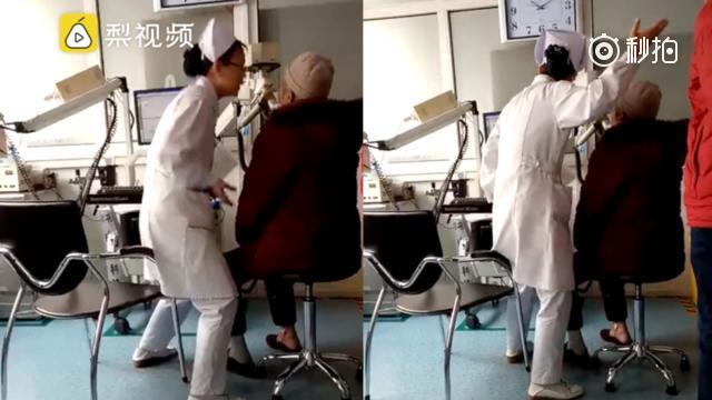 护士为老人做检查动作浮夸走红:为病人愿当小丑