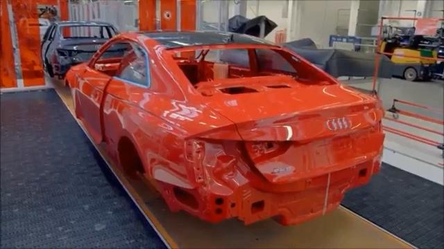 探访奥迪RS5两门版性能车的生产工厂!长春车天下汽车街拍  