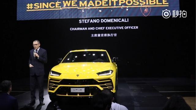 兰博基尼SUV Urus 中国发布,搭载了一台4.0L V8双涡轮增压发...