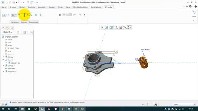 设计 机械设计PTC CREO设计软件教程:星型发动机主连杆的设计(1/...