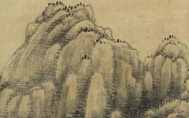 手绘远景山水图