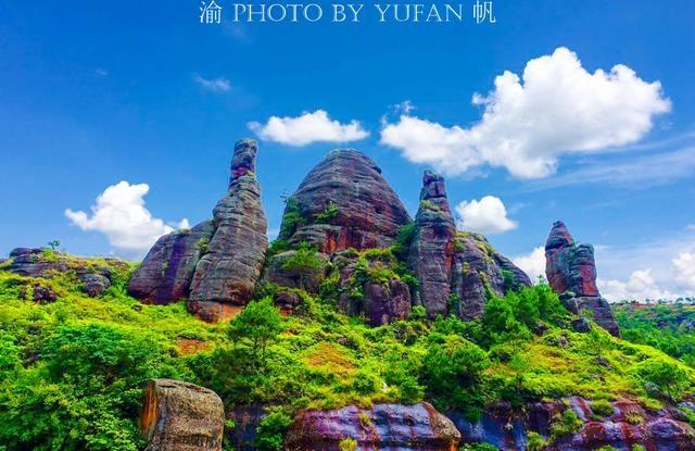 世界上唯一融丹霞地貌与卡斯特地貌于一体的自然奇观--铜石岭