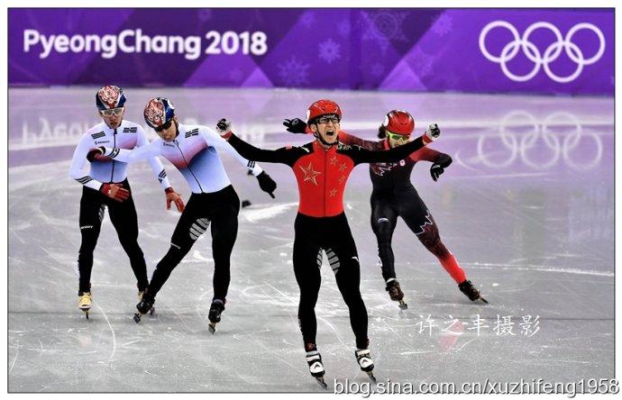 冬奥会武大靖夺冠激动瞬间