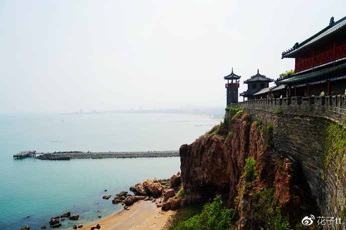 仙境蓬莱阁,朝看黄海日出,暮观渤海日落