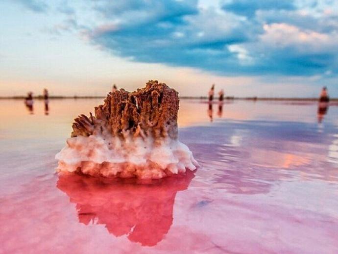 梦幻般的粉色盐湖