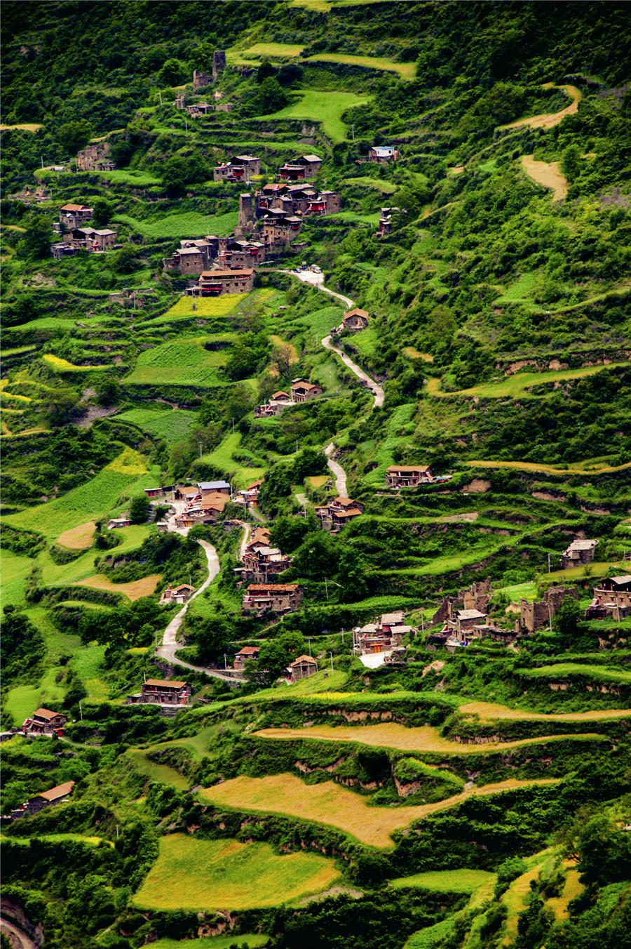 探访最美羌族村寨