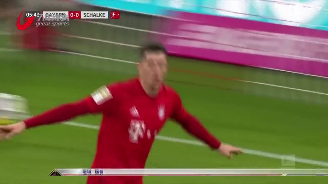 视频-莱万传射 拜仁主场五球大胜
