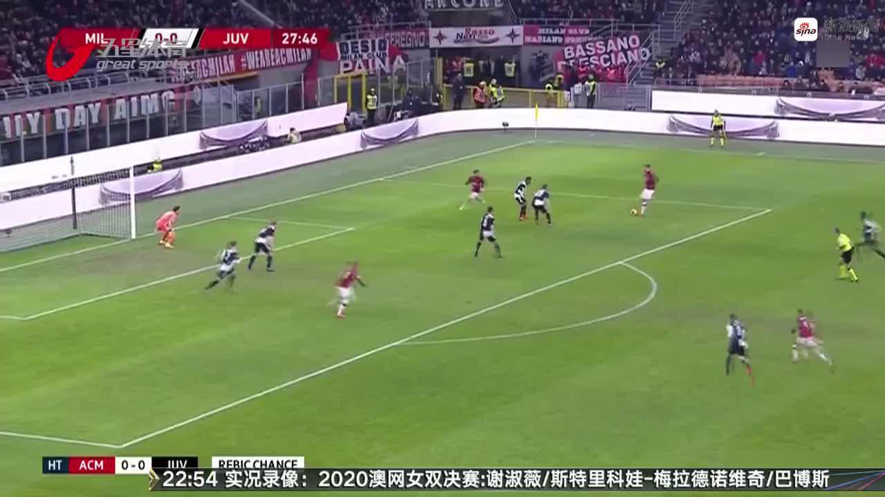 视频-意大利杯半决赛:C罗补时点射 尤文绝平米兰