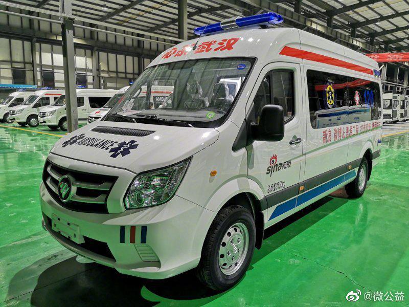 新浪捐助的首辆救护车 16日连夜奔赴金银潭医院图片