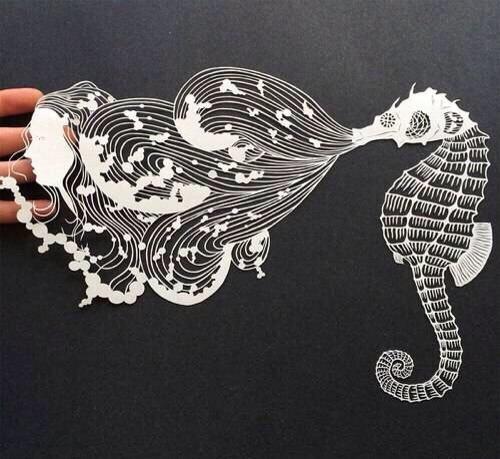 """"""" 剪纸艺术家Bovey Lee作品,材质多为中国宣纸… """""""