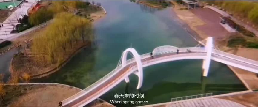 中央公园的玻璃桥,许昌又一亮点!永华摄影
