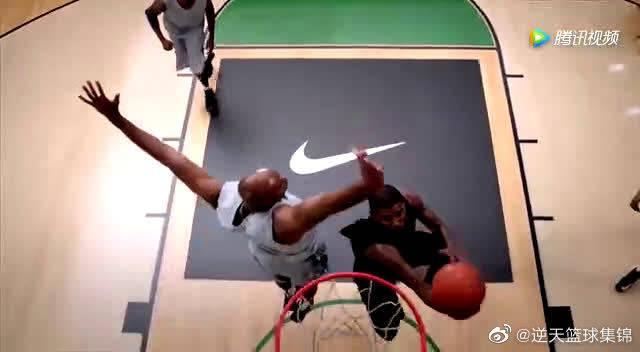 后卫利器!球星必杀招之NBA欧文旋转球上篮教学