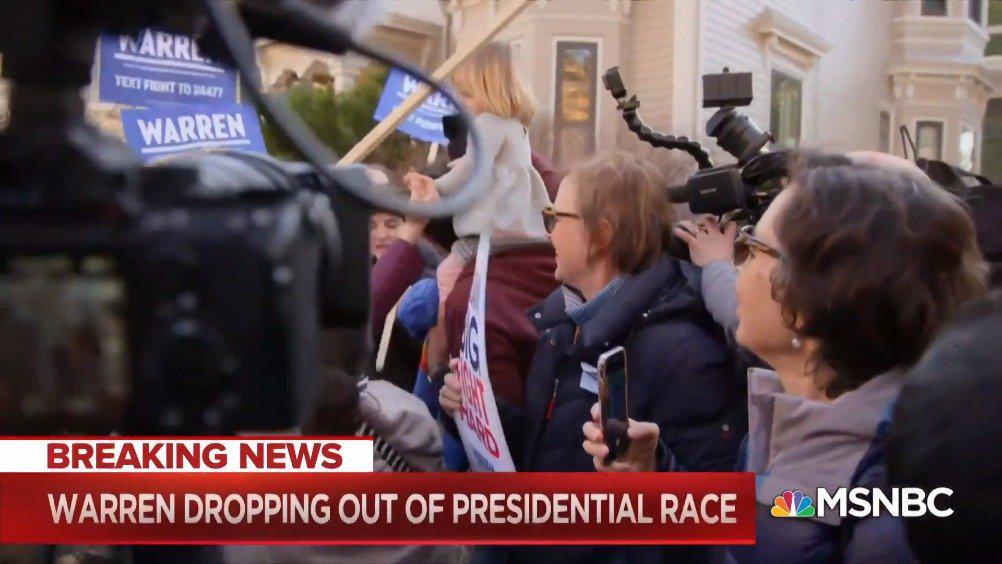 民主党总统候选人伊丽莎白·沃伦(Elizabeth Warren)结束了2020年总