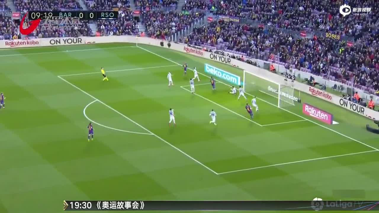 视频-梅西点球破门 巴萨力克皇家社会