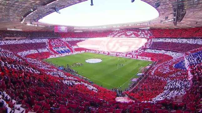 美如画!这样的足球谁能不爱 6万人拼出巨型TIFO