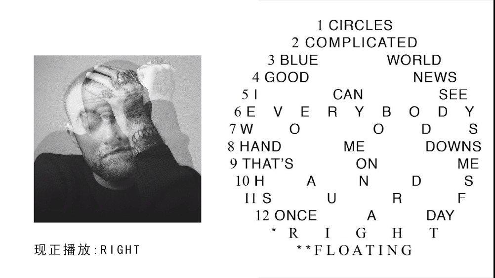 Mac Miller第六张录音室专辑《Circles》豪华版加曲Right / Floating