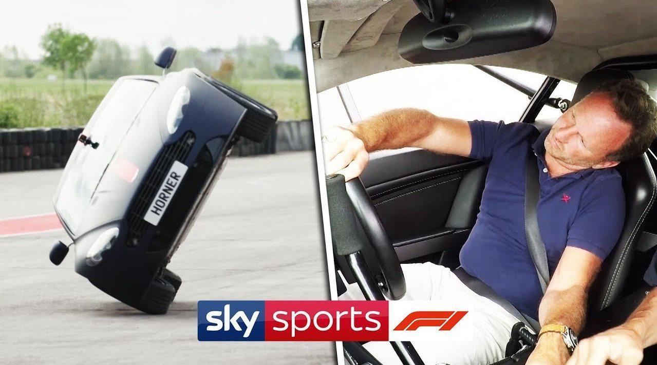 Christian Horner 挑战 Aston Martin 两轮特技驾驶!他成功了么?