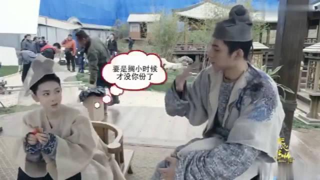 花絮:陈瑶、韩东君片场吃辣条,你一根,我一根!
