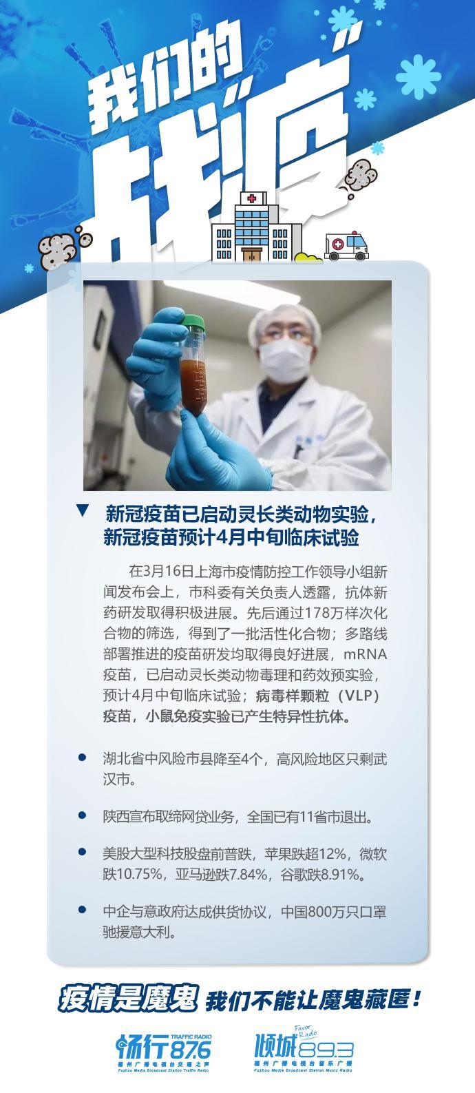 新冠疫苗已启动灵长类动物实验,新冠疫苗预计4月中旬临床试验