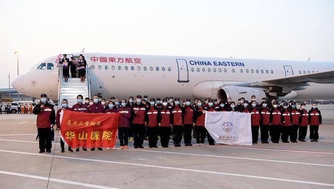 英雄归来!李强书记机场迎接上海援鄂医疗队首批返沪队员回家图片