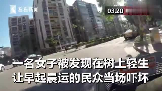 中国台湾:知名高档社区内女子陈尸树上,居民晨练碰见全都吓傻!
