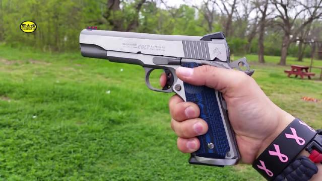 全新的柯尔特M1911手枪,户外靶场射击测试,越看越喜欢!