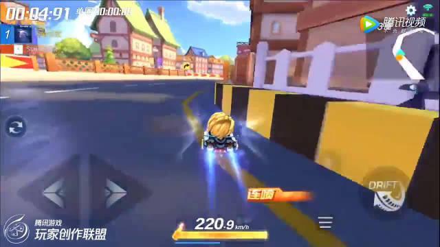 跑跑卡丁车:经典地图1分9秒,主播左左冠军时刻