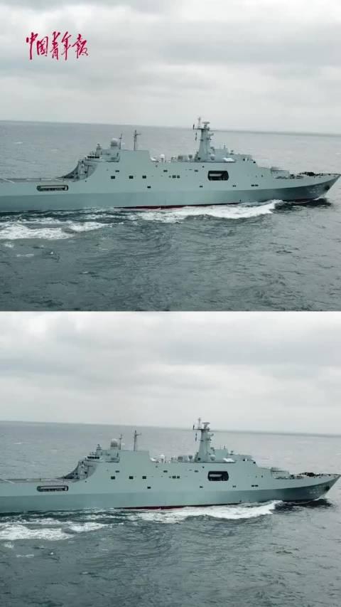 东部战区海军某登陆舰支队组织实战化对海防御、航行补给、反海盗多科