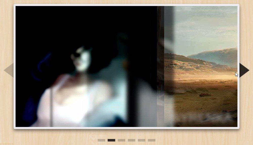 宽屏大气的CSS3百叶窗动画图片播放器