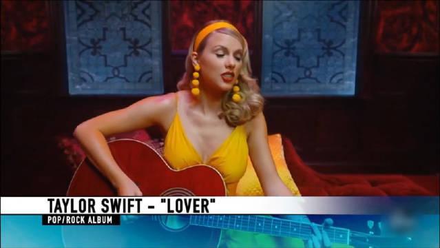 "Taylor Swift获得2019全美音乐奖""最受欢迎流行摇滚专辑""!"