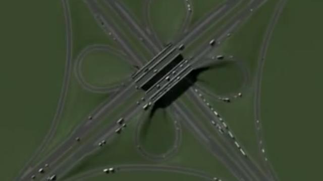 不同的公路形式会对交通有什么影响?看看这个非常直观的道路模型吧