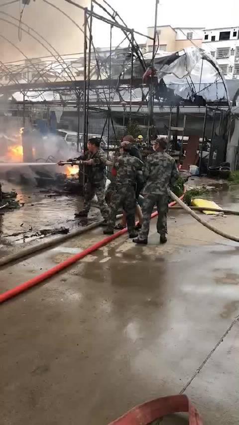 刚刚,广州消防通报海南村花棚火灾事件