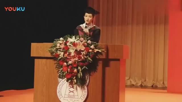 清华大学美女学霸脱稿演讲,受教育