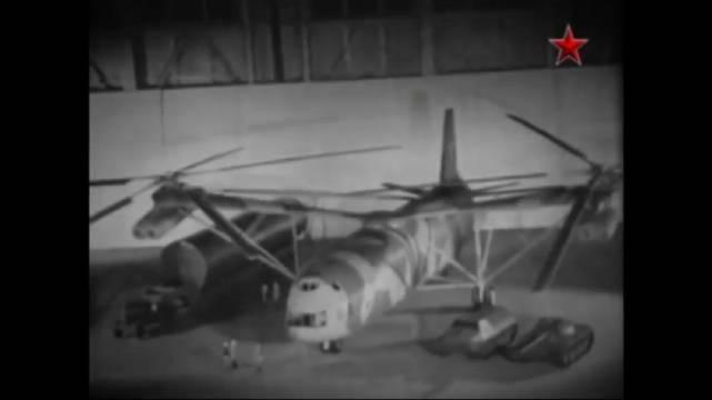 Mil V-12 Soviet heavy lift helicopter. 苏联米V-12重型直升机