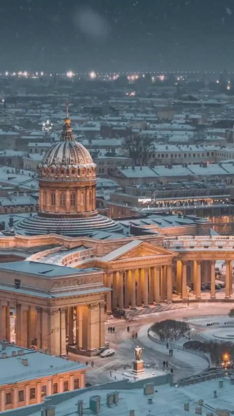 冬天的圣彼得堡,真的太美了!