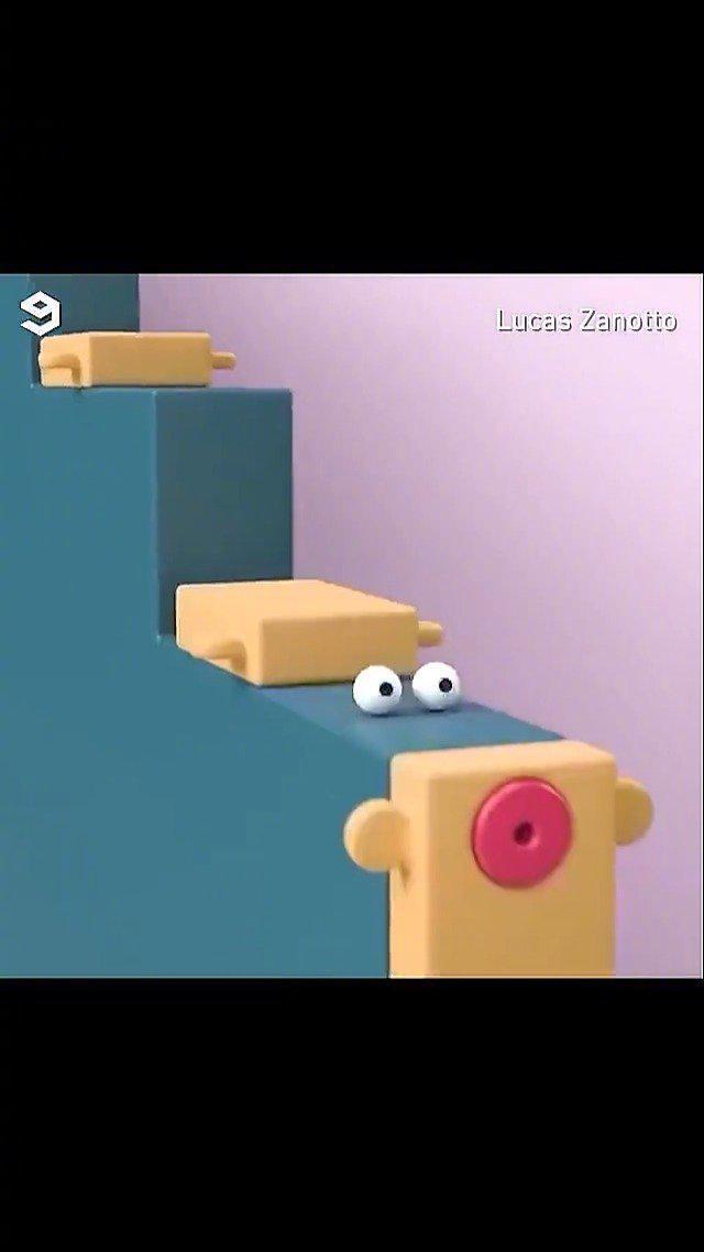 芬兰创意人 Lucas Zanotto制作的催眠短片,有点儿可爱