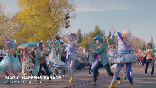 """迪士尼乐园发布了全新巡游表演""""魔法成真""""的8分钟官方录像"""