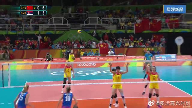 中国女排队长惠若琪,里约奥运会决赛精彩集锦