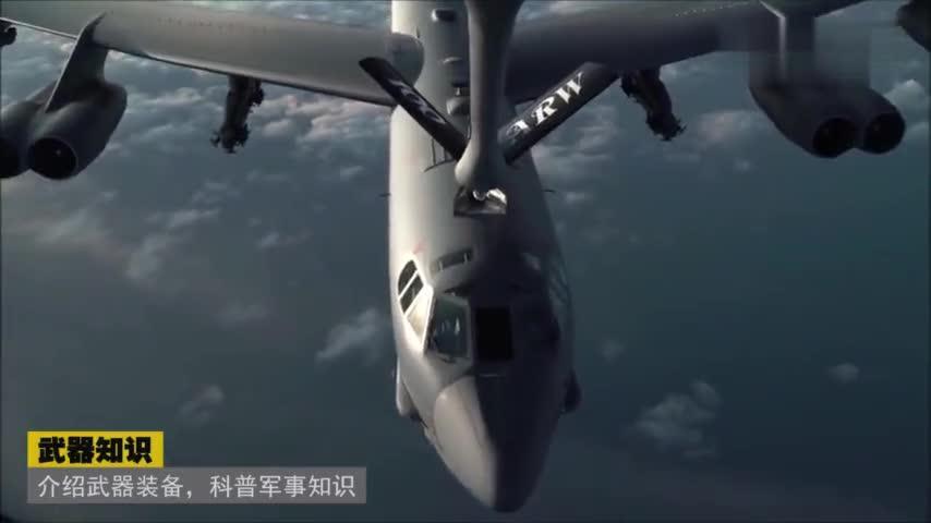 高清实拍B-52轰炸机高空硬管加油