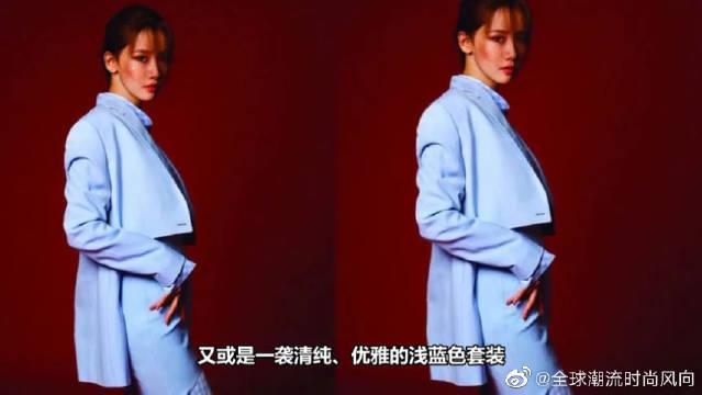 """被林允儿惊艳了,扎起长发穿上大红色露肩装,""""天鹅颈""""优雅迷人"""