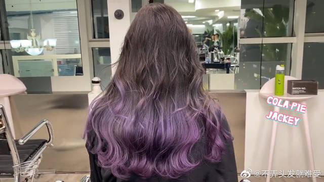 2020流行的紫色渐变发色参考,女生给你示范